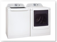 Washer 4 - High Efficiency Auto Sensor Top Loading Washer and Dryer Pair w/ See Through Lid and Door