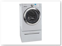 Washer 5 - Silver Grey 4.2 cu ft High Efficiency Energy Star Front Loading Washer w/ Pedestal